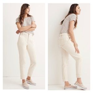 Madewell High Waist Tapered Leg Cropped Pants 28